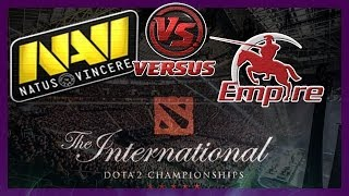 БОМБА! NaVi vs Empire bo1 International 2014 Dota 2 #ti4 RUS