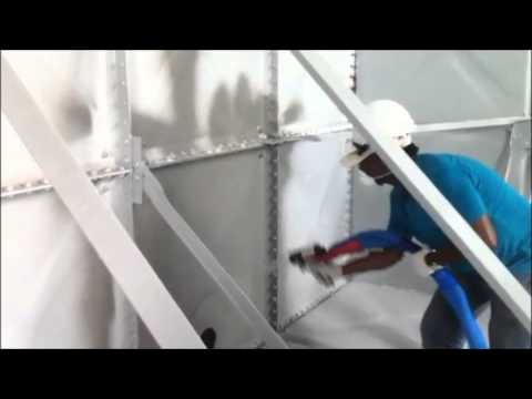Nukote Industries Malaysia- Spraying Nukote ST on water tank