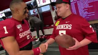 OU football: Lincoln Riley, Jalen Hurts talk about meeting bullying victim Rayden Overbay