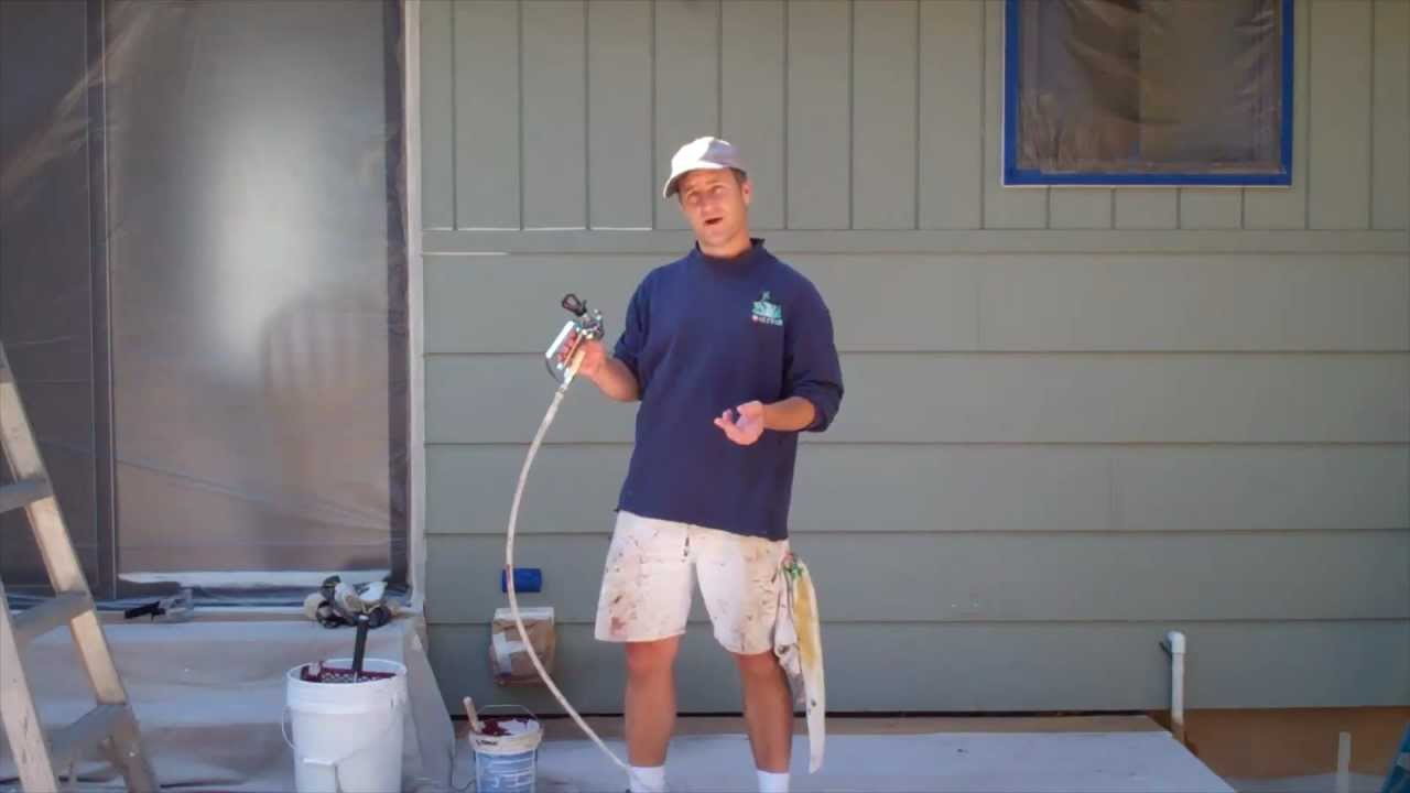 exterior painting step 7 spray painting the house youtube. Black Bedroom Furniture Sets. Home Design Ideas