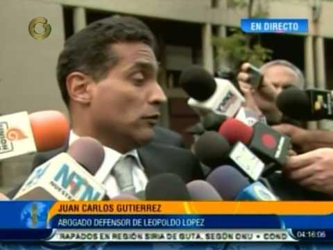 Juan Carlos Gutiérrez, abogado defensor de Leopoldo López