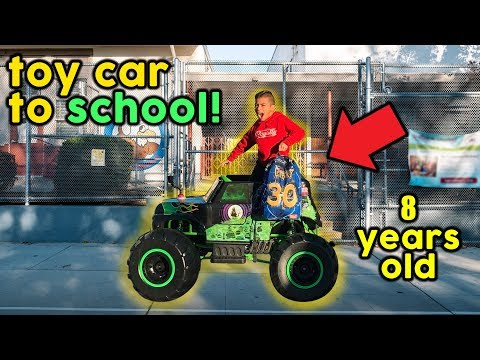 LETTING OUR 8 YEAR OLD SON DRIVE TO SCHOOL **POWER WHEELS TO SCHOOL** | The Royalty Family