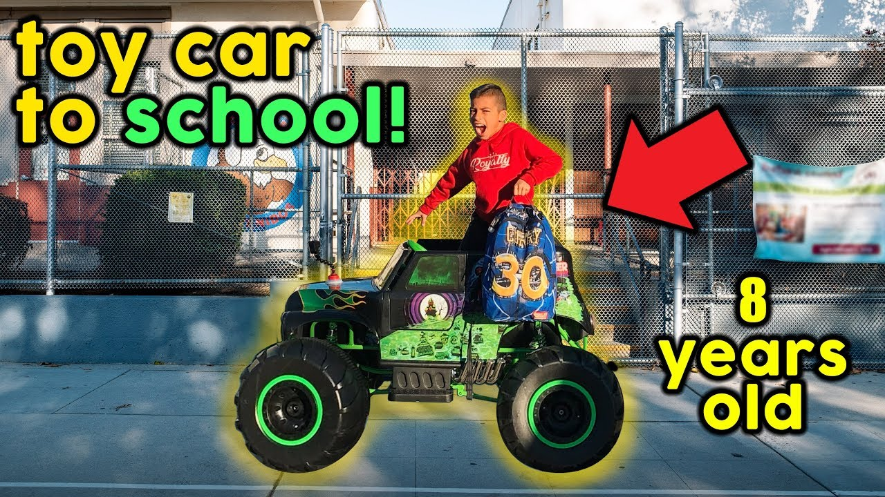 letting-our-8-year-old-son-drive-to-school-power-wheels-to-school-the-royalty-family