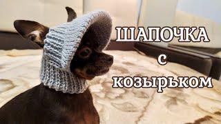 Шапочка с козырьком для собак мелких пород