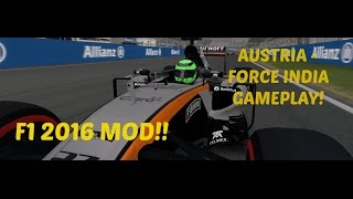 F1 2016 MOD: Austria Force India Gameplay - 2016 Tracks, Cars & Drivers