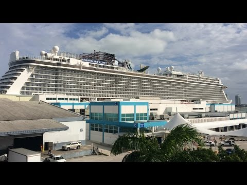 Norwegian Escape Cruise Day 1 - Departure From Miami, Florida December 19th, 2015