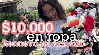 GASTO $10,000 EN ROPA / SACO TODA LA ROPA DE MI ARMARIO Y LO RENUEVO / TE MUESTRO MI GUARDARROPA RE