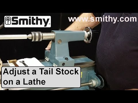 How to Adjust a Tail Stock on a Lathe -  Smithy Granite 3-in-1