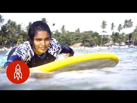 Sri Lanka's First All-Female Surf Club