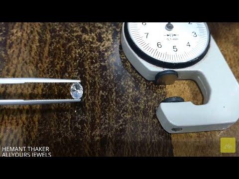 how to measure oval shape diamond?