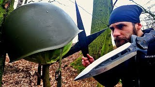 25$ Steel Army Helmet VS EXTREME Durability Throwing Test (Will it Survive?)