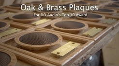 Making Brass & Oak Award Plaques for DD Audio - CNC Project #110