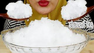 ASMR ICE EATING || MAKAN ES BATU || SHAVED ICE | ES SERUT|segar ASMR MUKBANG INDONESIA