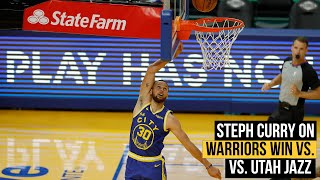 """Steph Curry on Warriors win vs. Jazz: """"Being able to adapt on the fly is the mark of a good team."""""""
