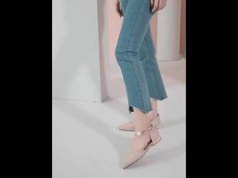 착화감 좋은 여성화 벨벳 펌프스 발목 발찌 포인트 플랫 로우힐 미들힐 스틸레토