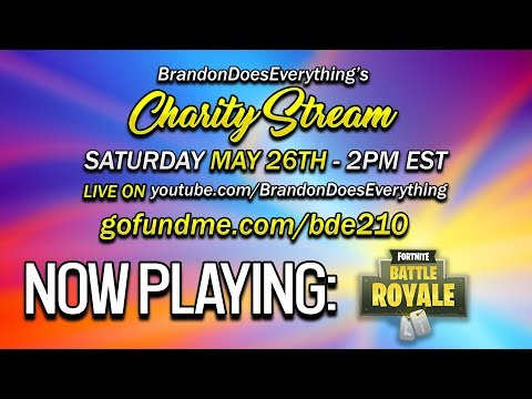 Raising Money for Charity!! | Charity Stream | Fortnite: Battle Royale