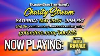 Raising Money for Charity!!   Charity Stream   Fortnite: Battle Royale