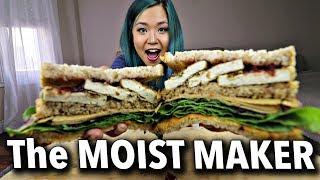 ROSS GELLER'S THANKSGIVING SANDWICH (VEGAN) THE MOIST MAKER MUKBANG