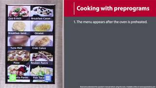 2 - How to Cook With Preprogrammed Menu Items (MXP/AXP)