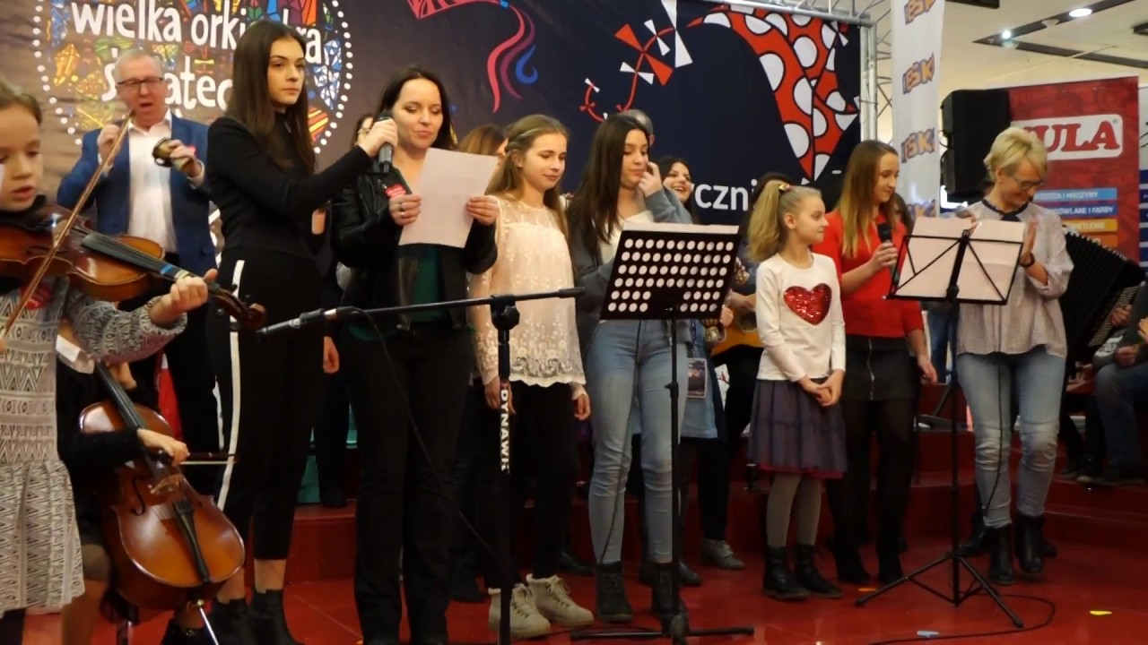 Hymn WOŚP na 150 bębenkach. 26 finał w Kielcach 14.01.2018