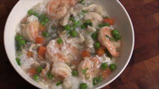 Jumbo Shrimp With White Sauce