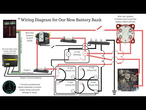 How To Wire 6 Volt Batteries in Series & Parallel with Blue Sea Systems ACR & Switch to 12 Volt