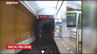 Эксклюзивные кадры крушения поезда метро 15 июля