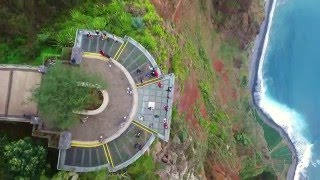 Cabo Girao (Europe's Highest Cliff) Skywalk, Madeira, Portugal filmed with drone