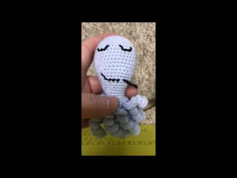 Embroidering Amigurumi Faces : Embroidering the face. octopus for a preemie. youtube
