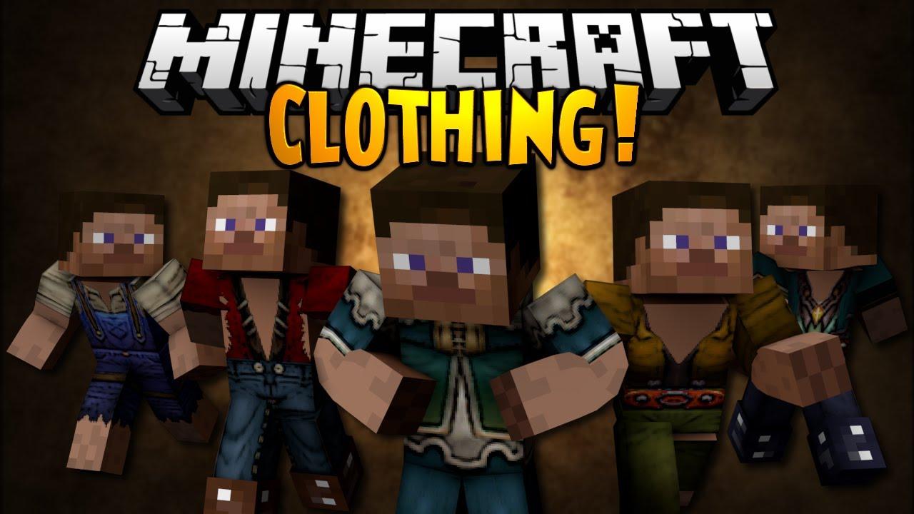 minecraft mod showcase clothing   youtube