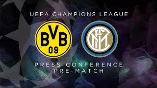 BORUSSIA DORTMUND vs INTER | LIVE | Pre-Match Press Conference Conte + Candreva [SUB ENG]