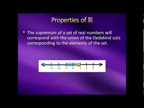 Introduction to Higher Mathematics - Lecture 13: Construction of the Real Numbers