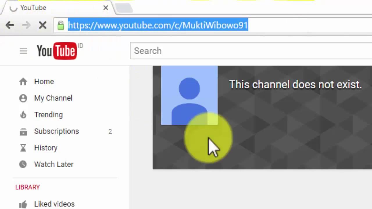 Cara Membuat Url Youtube Channel Dengan Nama Sendiri Youtube