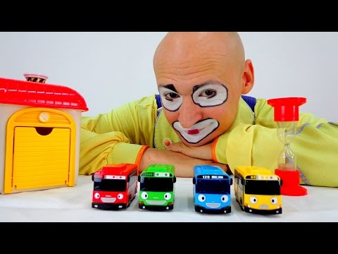 Clown & Tayo Toys. Car Games for kids.