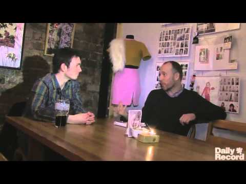 Beerjacket interview at The Glad Cafe in Glasgow
