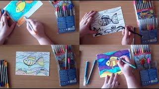 4 техники работы с фломастерами для детей
