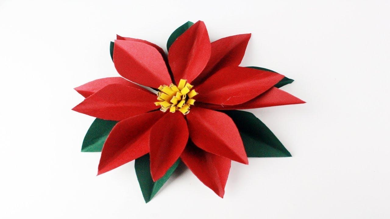 Como Hacer Una Flor De Nochebuena De Papel Paso A Paso