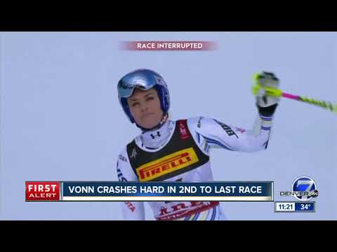 Lindsey Vonn crashes in penultimate race as Mikaela Shiffrin wins world title Mp3
