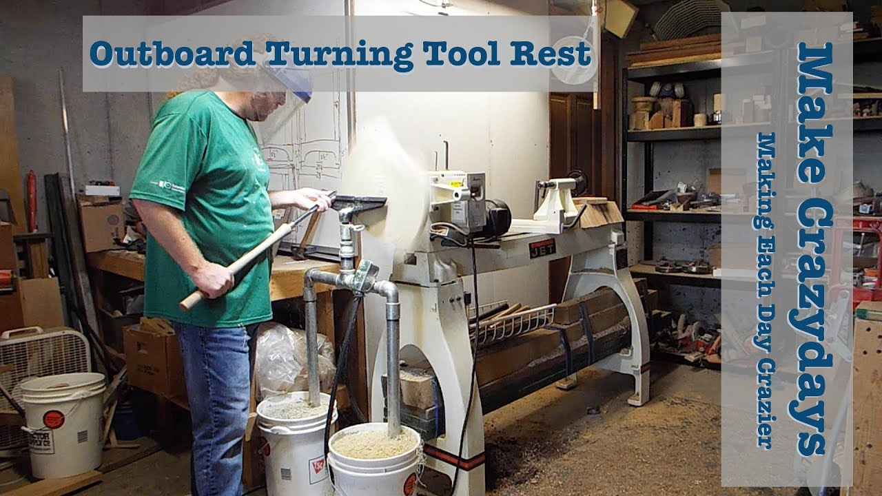 Outboard Turning Tool Rest Youtube