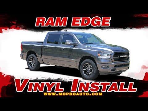 2019 2020 Dodge Ram Stripes   Ram EDGE Decals   Vinyl Graphics Installation of Dodge Ram Vinyl Graph
