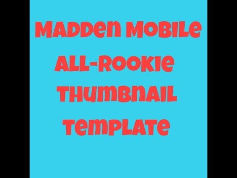 Madden Mobile All-Rookie Thumbnail Template