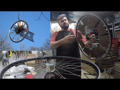 HOW TO: bicycle wheel weathervane windmill kinetic art sculptures