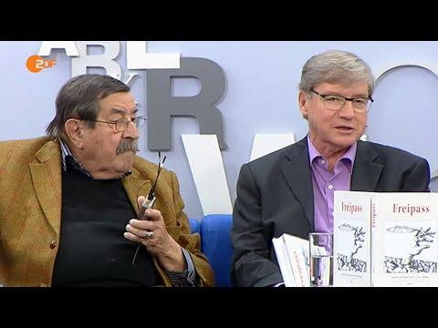 Günter Grass und Per Øhrgaard auf dem blauen Sofa (Leipziger Buchmesse 2015)