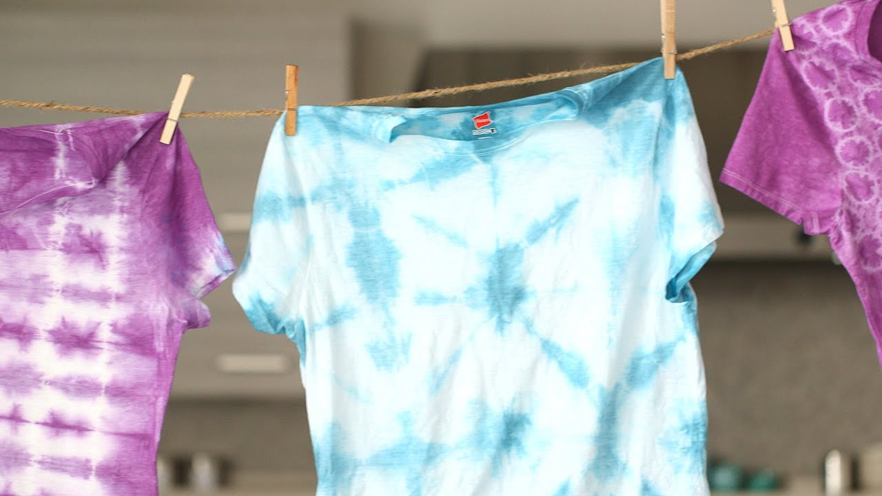 3 Simple Tie Dye Techniques Martha Stewart Youtube