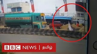 Chennai Banner Accident Video | Subashree