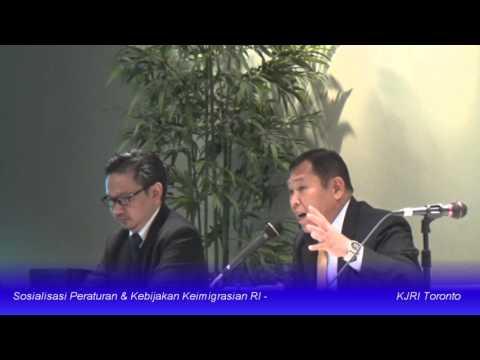 KJRI Toronto: Sosialisasi Peraturan Keimigrasian RI (17 Oktober 2015)