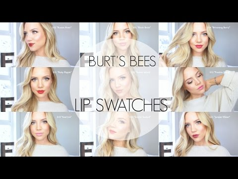BURT'S BEES LIPSTICK || REVIEW+TRY ON
