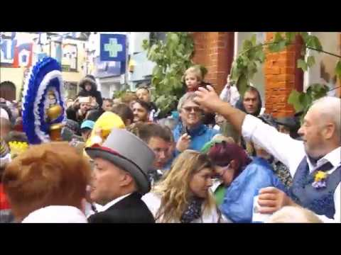 The Padstow May Day Celebrations 2pm Blue Ribbon Obby Oss Day Song 1st May 2017