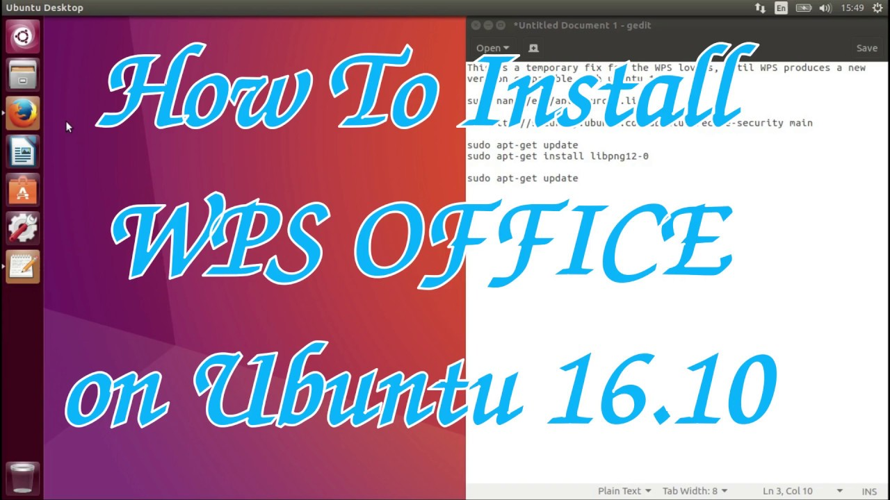 How To Install WPS OFFICE on Ubuntu 16 10