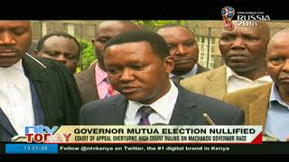 Governor Mutua's election nullified